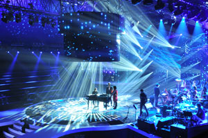 """La Nouvelle Star"" french TV show with APG monitors"